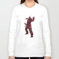 street fighter Long Sleeve T-shirts featuring Street Fighter Dan by vanityfacade