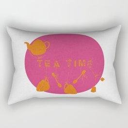 Pink and Orange Tea Time Rectangular Pillow