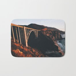 Sunburnt Bixby Bridge - Big Sur, California Bath Mat
