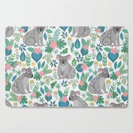 Floral Koala Cutting Board