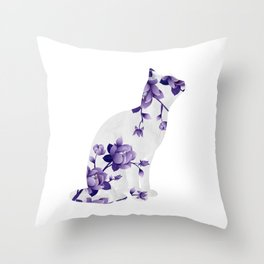 Cat 22a Throw Pillow