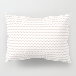 Rose pale geometrical zigzag pattern Pillow Sham