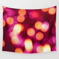 the lights Wall Tapestries featuring Lights by Chiara Cattaruzzi