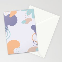 Abstract Art Poster Stationery Cards