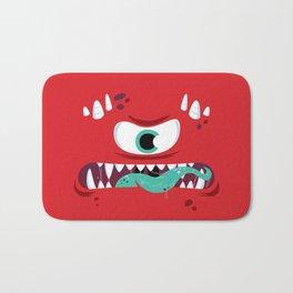 Baddest Red Monster! Bath Mat