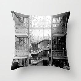Bradbury Building, Downtown Los Angeles Throw Pillow