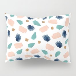 turquoise, navy, pink & gold Pillow Sham