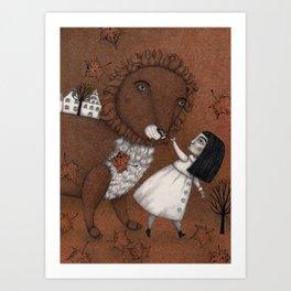 Lion Tamer--Walking Together Art Print