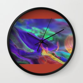 towel,furniture decorative panel clock tray abstraction hand painting on fabric Wall Clock
