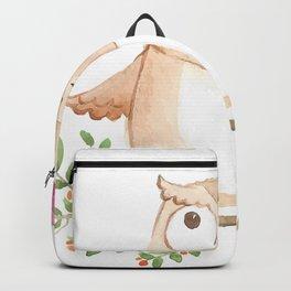 Cute Owl And Umbrella Backpack