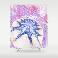 seashell Shower Curtains featuring seashell by haroulita