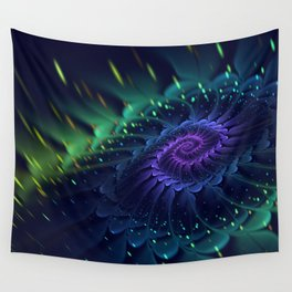 Psychedelic Fractal Bloom Wall Tapestry