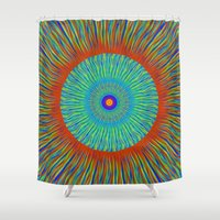 kaleidoscope Shower Curtains featuring Kaleidoscope  by BrucestanfieldartistPatterns