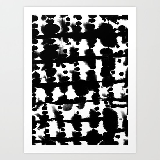 Parallel Black and White Art Print