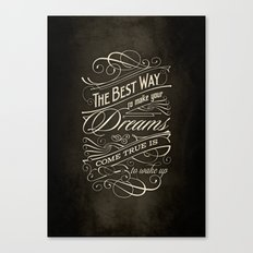 The Best Way - Typography Canvas Print