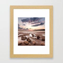 Low Tide Sunset Framed Art Print