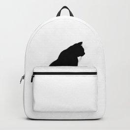 Black cat silhouette Backpack