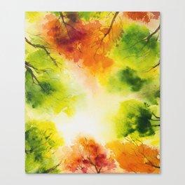 watercolor autumn trees Canvas Print