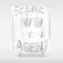 Secret Agent Halloween Costume Shirt Distressed Shower Curtain