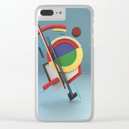 Constructivism & Suprematism in the style of Ivan Kliun (1 of 9) Clear iPhone Case