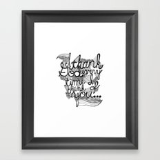Thankful Framed Art Print