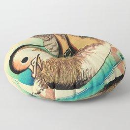 Mandarin Ducks - Vintage Japanese Art Floor Pillow