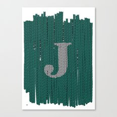 Winter clothes. Letter J III Canvas Print
