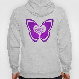 FREE TO FLY butterfly - purple Hoody