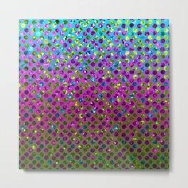 Polka Dot Sparkley Jewels G377 Metal Print