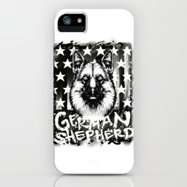 German Shepard Gift American Flag German Shepard Design iPhone Case