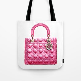 Lady Handbag in Pink Leather Tote Bag
