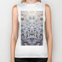snowflake Biker Tanks featuring Snowflake by Kristin Edoy Design