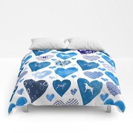 BLUE HEARTS WEIMARANERS Comforters