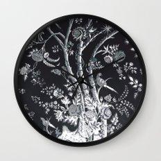 Peacock Tree Denim Wall Clock