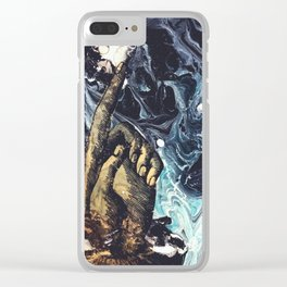 Pointer Finger Up Clear iPhone Case