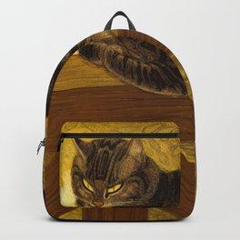 "Théophile Steinlen ""Cat on a Balustrade"" Backpack"