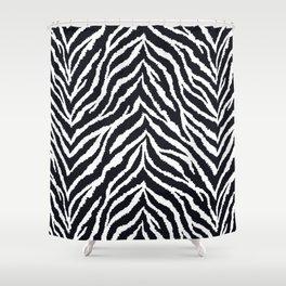Zebra fur texture Shower Curtain