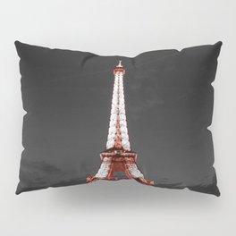 Paris Eiffel Tower Pink Night Pillow Sham