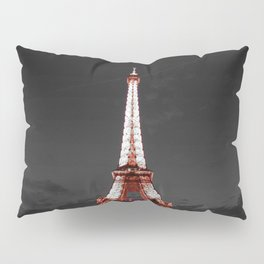 Paris Eiffel Tower Pink Night Pillow Sham