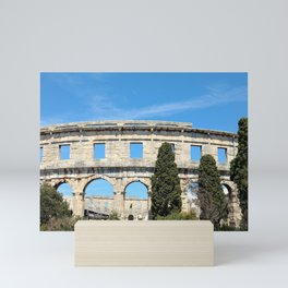 pula croatia ancient arena amphitheatre Mini Art Print