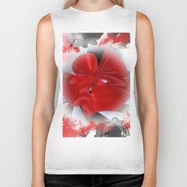 red polynomial flower -1- Biker Tank