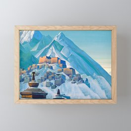 Nicholas Roerich - Tibet Himalayas - Digital Remastered Edition Framed Mini Art Print