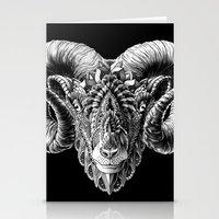 bioworkz Stationery Cards featuring Ram Head by BIOWORKZ