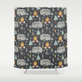 Airstream Camping Shower Curtain