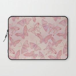 Butterfly Pattern soft pink pastel Laptop Sleeve