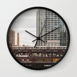 LaSalle Street - Chicago Photography Wall Clock
