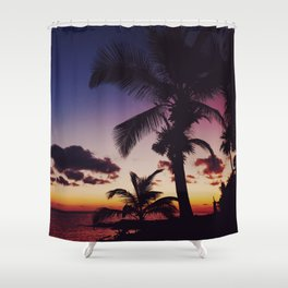 Summer Night Sunset Shower Curtain