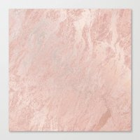 gold foil Canvas Prints featuring Rose Gold Foil by Sweet Karalina