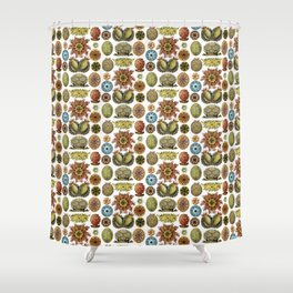 Ernst Haeckel Ascidiae Sea Squirts White Background Shower Curtain
