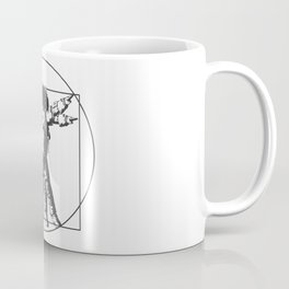 Vitruvian with spacer flair on white Coffee Mug